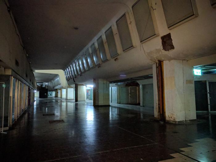 קומה 1 הנטושה, לשעבר קומת האוטובוסים העירוניים של דן